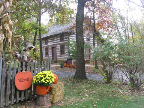 Walnut Ridge Wisconsin Log Cabin Vacation Rental Home near Galena Illinois lodging, Madison WI hotel and Shullsburg Wisconsin.
