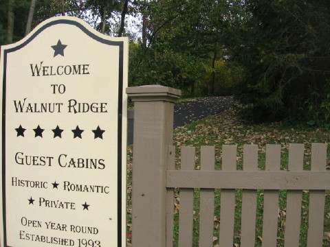 Click to view Welcome to Walnut Ridge - Wisconsin Log Cabin Guest Houses