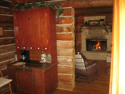The main floor in the Cabin Life guest house